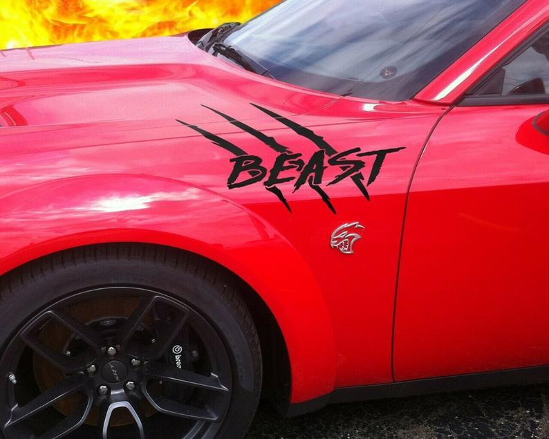 2008-2020 Dodge Challenger Beast HELLCAT Quarter Panel ...